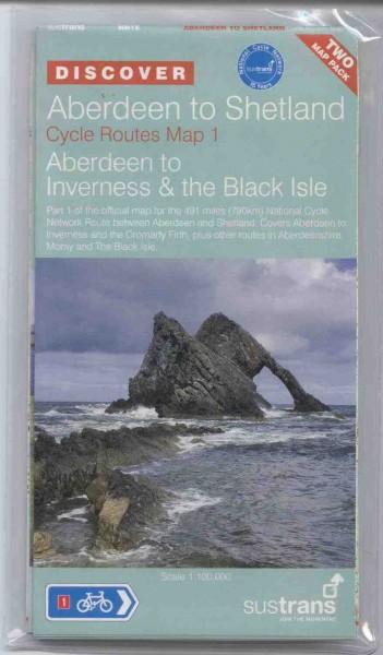Aberdeen to Shetland Sustrans Map