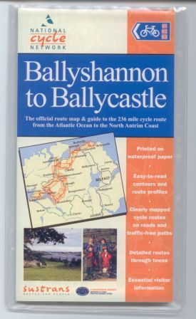 Ballyshannon to Ballycastle Sustrans cycle map