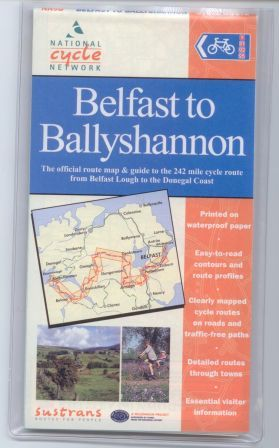 Belfast to Ballyshannon Sustrans cycle map