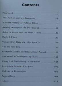 Brompton 3rd edition - Contents page