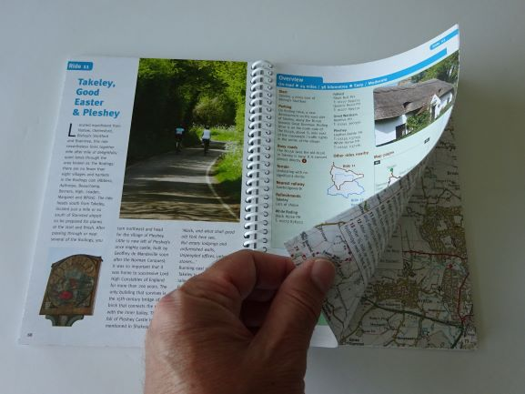 Chilterns, Hertfordshire and Essex Cycle Tours - example pages