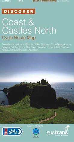 Coast and Castles North Sustrans cycle map