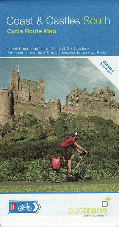 Coast and Castles South map from Sustrans - 2018