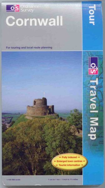 Cornwall Ordnance Survey Tour Map