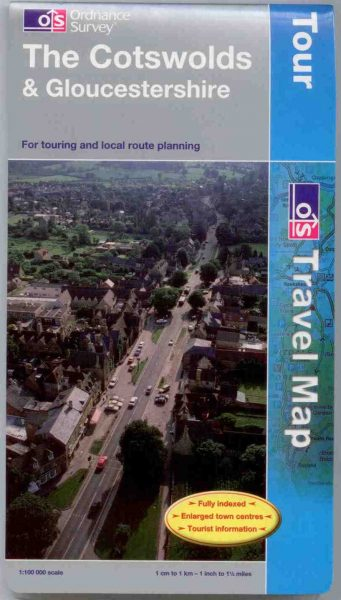Cotswolds Ordnance Survey Tour Map