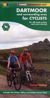 Dartmoor & Surrounding Area - Harvey cycle route map