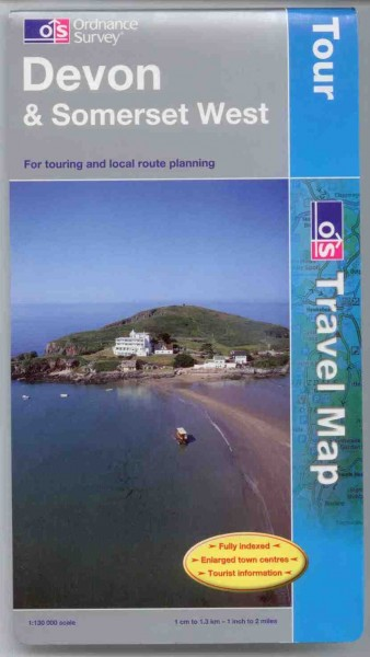 Devon and West Somerset Ordnance Survey Tour Map