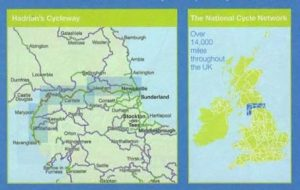 The route of Hadrian's Cycleway
