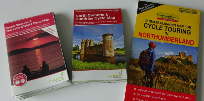 Hadrian's Cycleway alternative maps