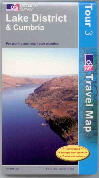 Lake District Ordnance Survey Tour Map