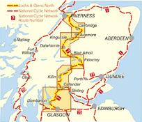 Lochs & Glens North Sustrans cycle map