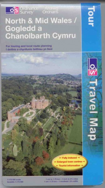 North and Mid Wales Ordnance Survey Tour Map