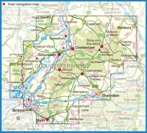 Ordnance Survey - Cotswolds & Gloucestershire routes