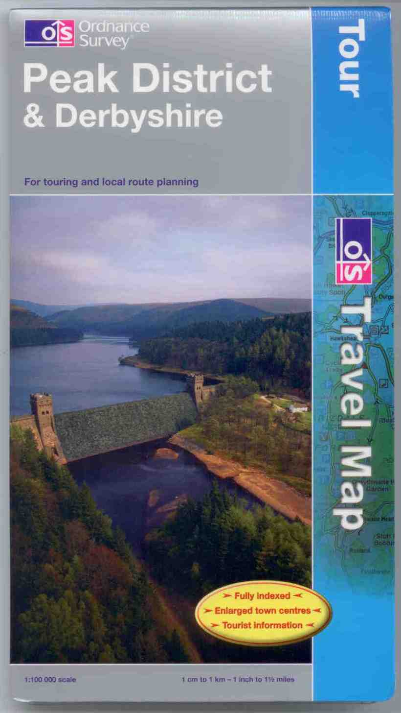 Peak District and Derbyshire Ordnance Survey Tour Map
