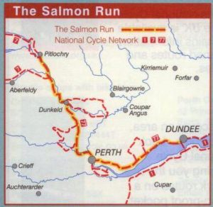 The Salmon Run - Sustrans Map