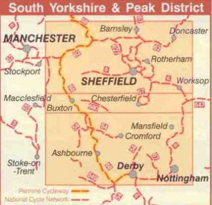 South Yorkshire and Pennines Sustrans Map routes