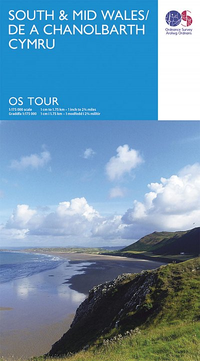 South and Mid Wales Ordnance Survey Tour Map