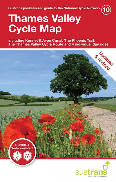 Thames Valley Sustrans cycle map