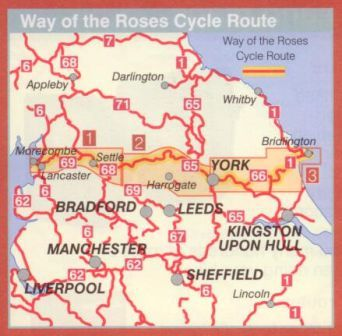 Way of the Roses Cycle Map