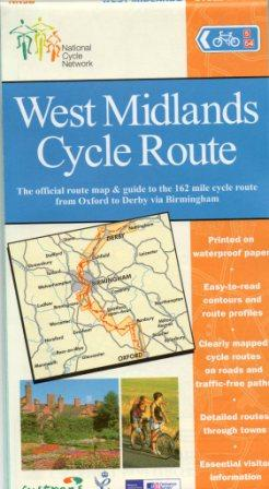 West Midlands cycle route map from Sustrans