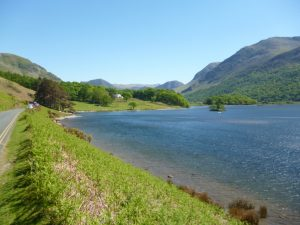 Cycling in the Lake District - Crummock Water