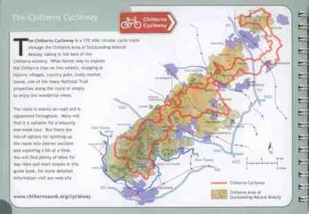 Chilterns Cycleway Guide Book route