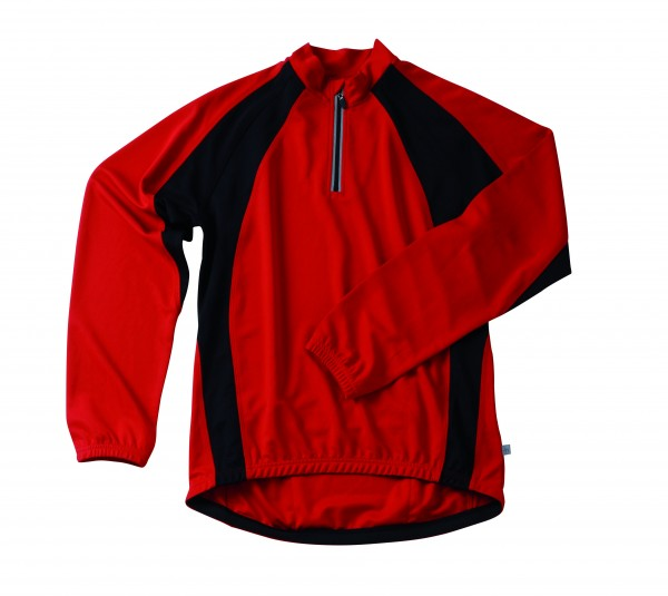Men's long-sleeve bike shirt in red