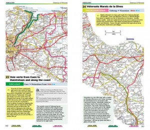 Cycling Northern France, Excellent Books - Normandy Greenways - maps