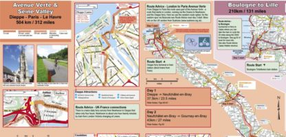 Cycling Northern France - waterproof map extract