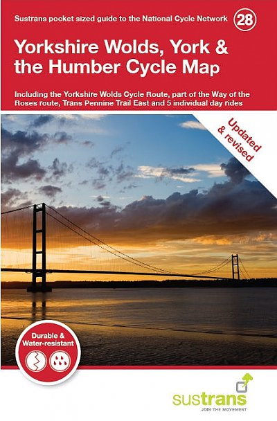 Yorkshire Wolds, York & the Humber Cycle Map, Sustrans