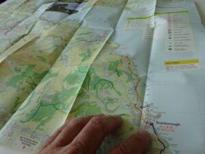 North York Moors, Tees Valley and Durham Coast Cycle Map 2021 - sample