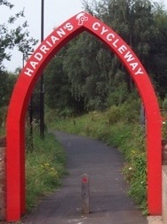 Red Arch on Hadrians Cycleway tall