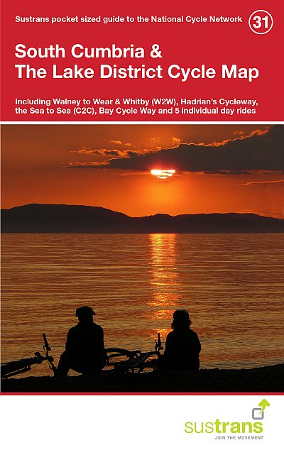 South Cumbria & The Lake District Cycle Map from Sustrans