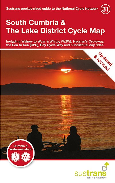 South Cumbria & The Lake District Sustrans Cycle Map