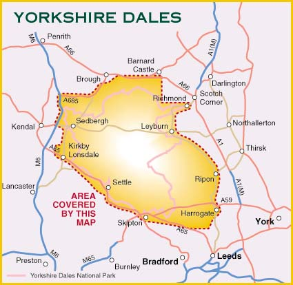 Yorkshire Dales for Cyclists from Harvey Maps