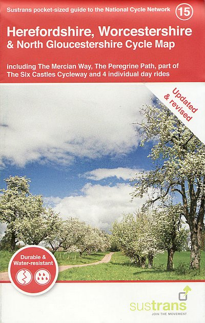 Herefordshire, Worcestershire & North Gloucestershire Sustrans Cycle Map 2021