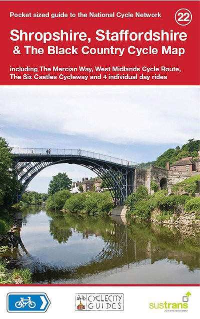 Shropshire, Staffordshire & The Black Country Cycle Map, Sustrans