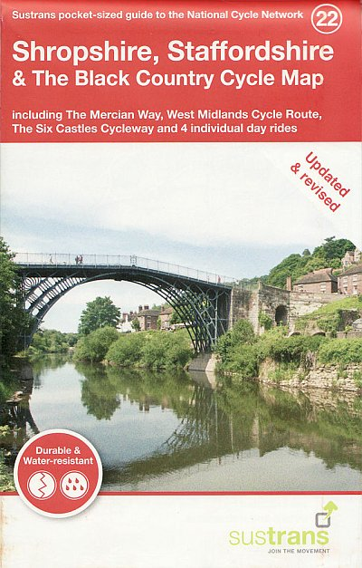 Shropshire, Staffordshire & The Black Country Sustrans Cycle Map 2021