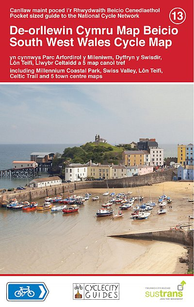 South West Wales Sustrans map