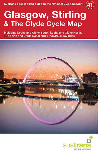 Glasgow and Stirling Sustrans cycle map