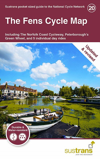 The Fens Sustrans cycle map