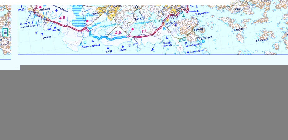 Norway - North Sea Cycle Route West - sample map