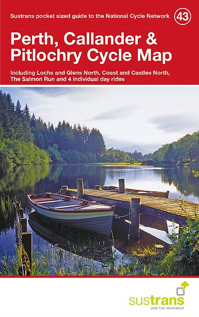 Perth, Callander, Pitlochry Sustrans Cycle Map 43