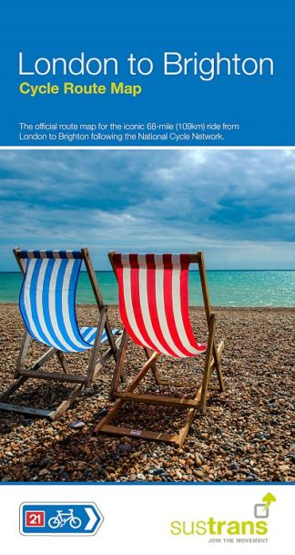 London to Brighton Sustrans Cycle Map