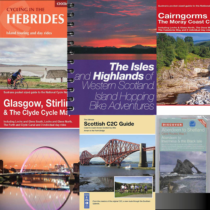 Scottish regions cycle route maps