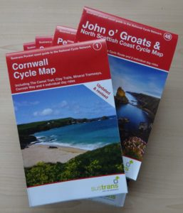 Land's End to John O'Groats Sustrans maps - cycle maps for LEJOG or JOGLE