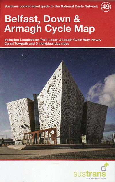 Belfast Down and Armagh Sustrans Cycle Map