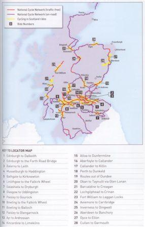 Cycling in Scotland - map