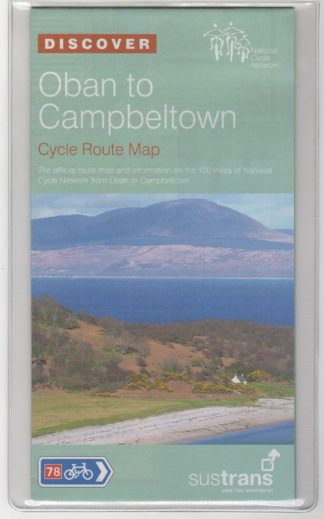 Oban to Campbeltown Sustrans Cycle Route Map NN78