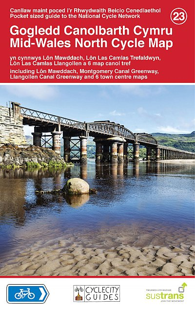 Mid-Wales North Sustrans Cycle Map